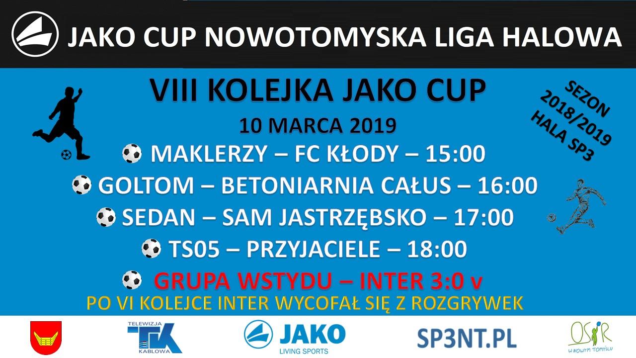 JAKO CUP III – 8 KOLEJKA – ZAPOWIEDZ. INTER WYCOFANY Z ROZGRYWEK!!!