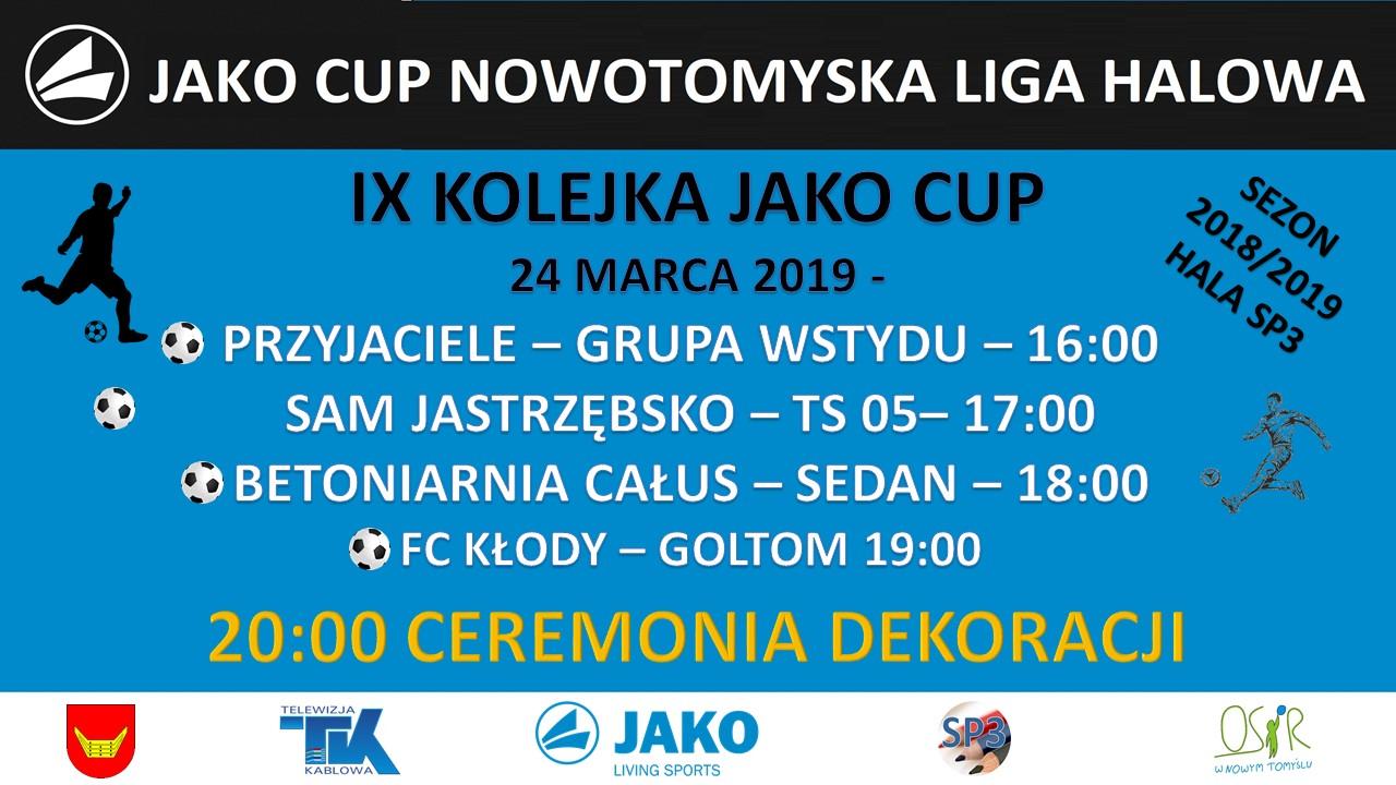JAKO CUP III – 9 KOLEJKA – ZAPOWIEDZ.