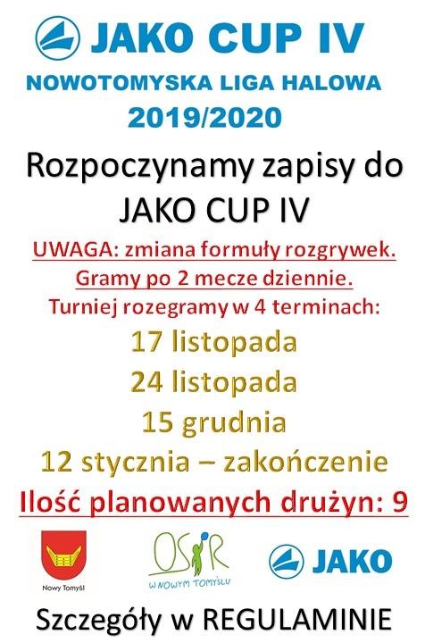 JAKO CUP IV – ZAPISY