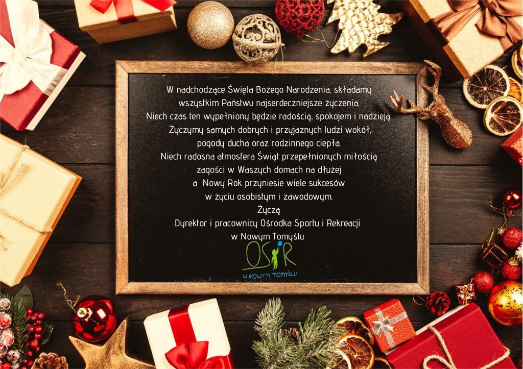 Życzenia Bożonarodzeniowe oraz Noworoczne.