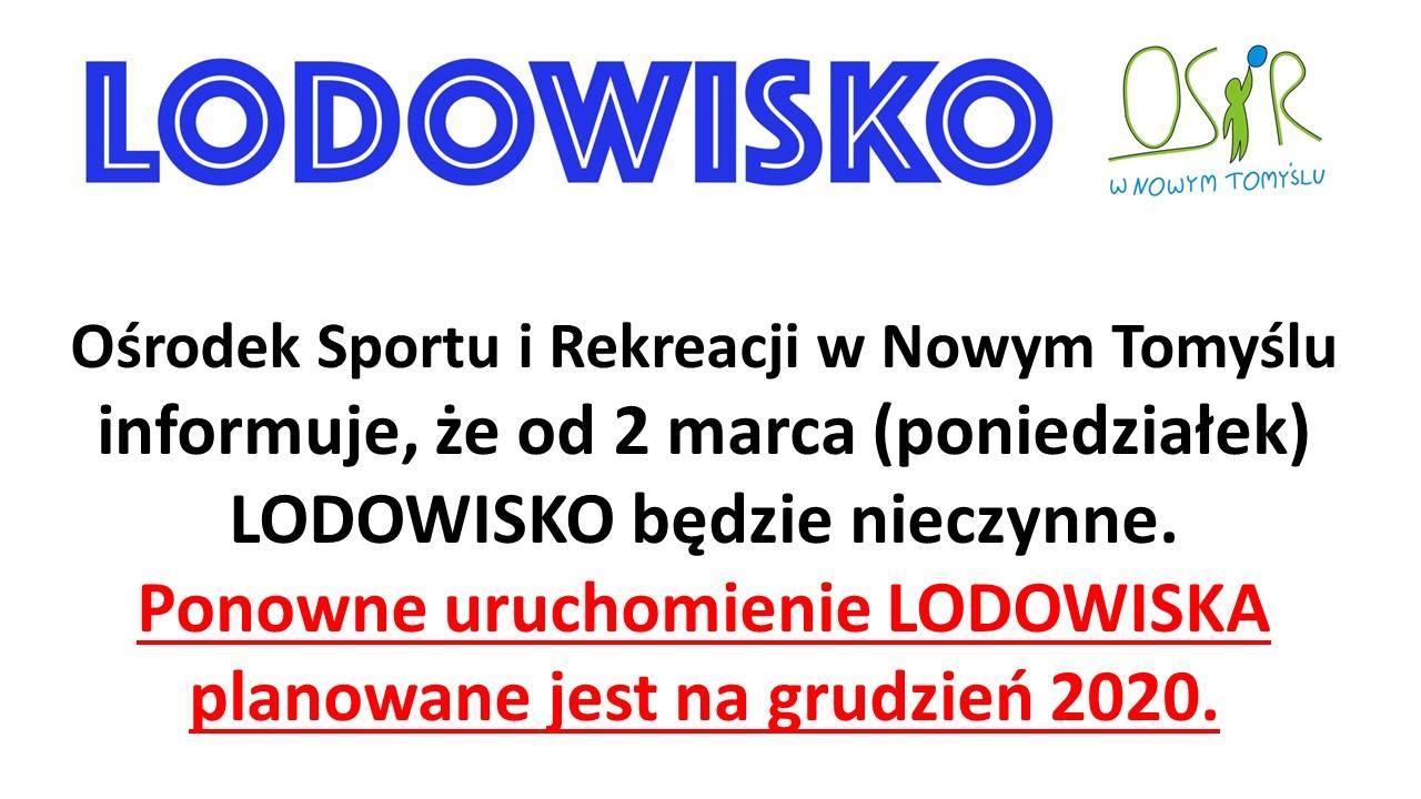 OSTATNI TYDZIEŃ PRACY LODOWISKA W SEZONIE 2019/2020.