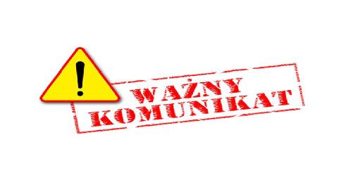 """KOMUNIKAT DOTYCZĄCY FUNKCJONOWANIA ZESPOŁU BOISK """"ORLIK 2012"""""""