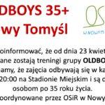 """OLDBOYS 35+ WRACAJĄ DO """"GRY"""""""